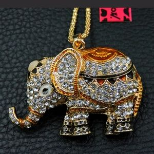 Betsey Johnson Elephant Necklace